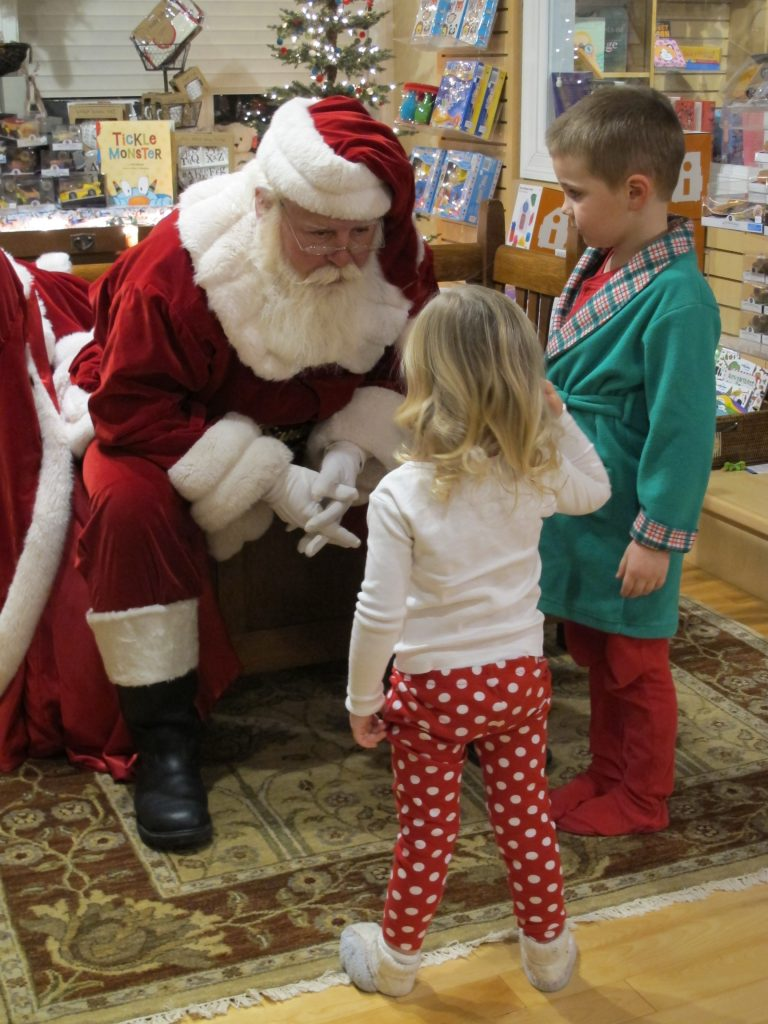 """Now, be nice to each other."" Santa Visit 2014"
