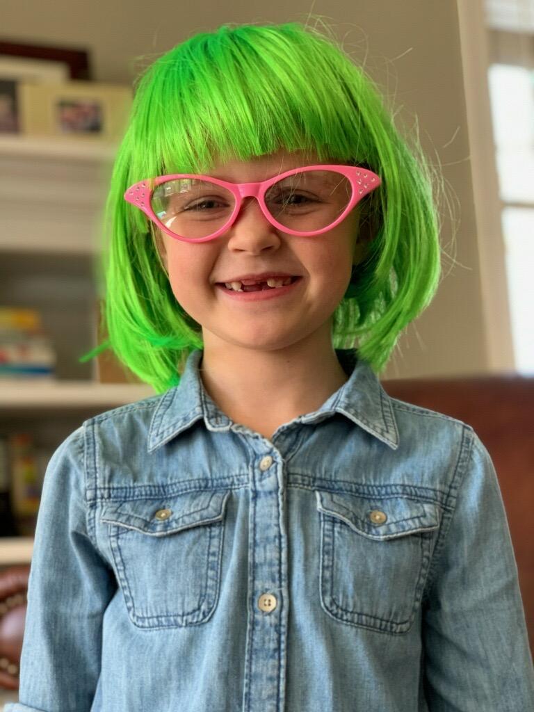 Green wig